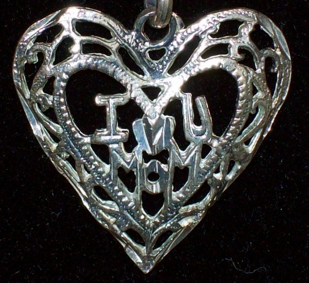 Mother's Heart Pendant    .925 Sterling Silver