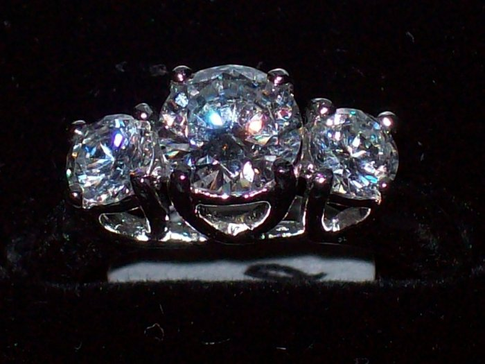 .925 SS Past, Present, Future Ring - Size 6