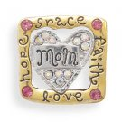 "Gold Tone ""Mom"" Fashion Pin"