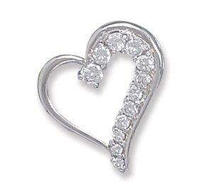 CZ Diamond Heart Pendant