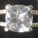 Sterling Silver CZ Diamond  Ring ~ Size 7