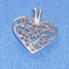 Filigree Heart Charm/Pendant