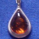Small Pear Shape Amber Pendant