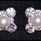 Rhinestone & Pearl Dot Earrings