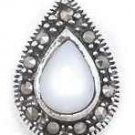 Mother of Pearl Marcasite Slider Pendant