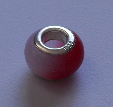 Red/White Story Bead