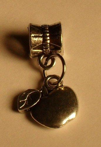 Silver Apple Charm