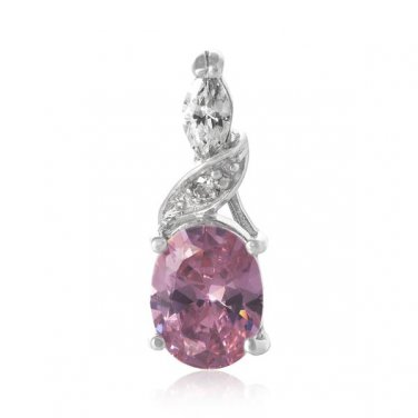 CZ Diamond Pendant ~ Lavender