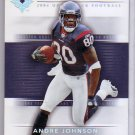 Andre Johnson 2004 Ultimate Collection #25 Texans Colts #10/10