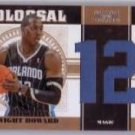 Dwight Howard #/49 2011 Playoff National Treasures Colossal Jersey Numbers #26 Lakers Magic #/49