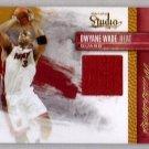 Dwyane Wade #/249 2010-11 Studio Master Strokes Jersey Miami Heat