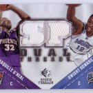 Shaq & Dwight Howard 2008-09 SP Dual Threads Dual Jerseys #TD-HO Lakers, Magic, Shaquille