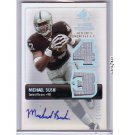 #01/10 Michael Bush 2007 SP  Rookie Threads Autographed Patch #RT-MB Raiders, Bears RC