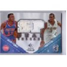 CHRIS PAUL & ISIAH THOMAS 2008-09 SP ROOKIE THREADS DUAL THREADS #TD-PT CLIPPERS PISTONS