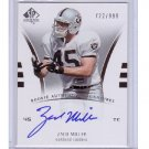 #/999 Zach Miller 2007 SP Authentic Rookie Authentic Signature #242 RC Raiders, Seahawks
