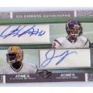 James Jones Jacoby Jones 2007 Topps Co-Signers #CSA-JJO Packers Ravens Texans Autographed RC