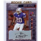 Donte Whitner 2006 Playoff Contenders Autographed RC #202 49ers Bills