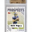 Eli Manning RC BGS 9.5  Pop 3 Giants 2004 Topps Premier Prospects Rookie #PP5