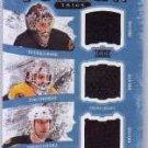 #/149 Bruins 2011 Artifacts Tundra Trios Triple Relics Tuuka Rask, Zdeno Chara