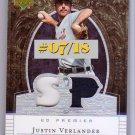 Justin Verlander 2007 Premier Patches #PP2-JV Tigers #/18