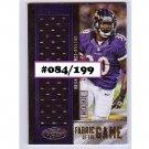 #/199 Bernard Pierce RC 2012 Certified Fabric of the Game Jersey #13 Ravens