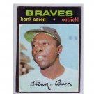 Hank Aaron 1971 Topps #400 Braves, HOF