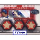Russell Martin RC 2007 Triple Threads Autograph Bat Relics #/99 Pirates Yankees Dodgers