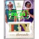 #/35 Joe Flacco 2008 SP Dual Threads RC Patch #DT-FH w/Chad Henne Ravens Dolphins
