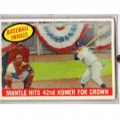 1959 Topps #461 - Mickey Mantle BT/42nd Homer