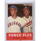 Ernie Banks & Hank Aaron 1963 Topps #242 Power Plus  Braves, Cubs