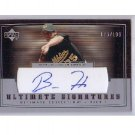 Barry Zito 2002 Ultimate Collection Ultimate Signatures Autograph #/199 #T1BZ1 Giants