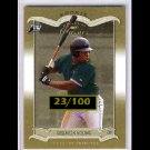 #/100 Delmon Young 2003 Donruss Classics Timeless Tributes RC #211  Tigers, Rays