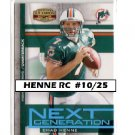 Chad Henne RC #10/25 2008 Gridiron Gear Next Generation #NG-9 Dolphins, Jags