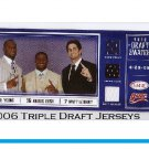 Vince Young, Reggie Bush 3 Jersey Swatches 2006 Sage Draft Swatches #NCCC1 + Leinart