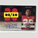 Eric Berry #/10 RC 2010 Limited Rookie Jumbo Jerseys Jersey Number Prime #30 Chiefs