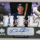 Prince Fielder #/25  2007 UD Black Tryptych Autograph Triple Relics #TRI-PF Rangers, Tigers