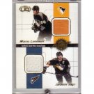 Mario Lemieux Jagr 2001-02 Pacific Heads Up Quad Jerseys #17 Penguins Hrdina Kasparaitis