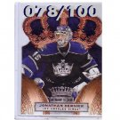 Jonathan Bernier #/100 2010-11 Crown Royale Premiere Date #46 Kings  Ducks