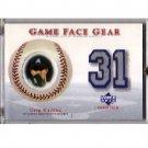 Greg Maddux 2003 Upper Deck Game Face Gear Jersey #GM2 Braves Dodgers