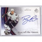 Ryan Kesler 2005-06 SP Authentic SOT Autograph #RK Ducks, Vancouver Canucks