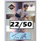 Travis Hafner 2005 Leaf Limited Monikers Bronze Autograph #86 Yankees, Indians #22/50
