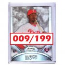 Domonic Brown 2010 Bowman Sterling Refractor RC #36 Phillies