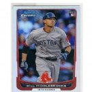 Will Middlebrooks 2012 Bowman Chrome Refractor RC #189 Red Sox