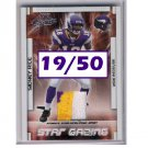 Sidney Rice 2007 Absolute Star Gazing RC Prime Jersey #SG-23 Seahawks Vikings #/50