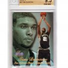 Tim Duncan 1997-98 Flair Showcase Row 3 RC #5 Spurs BGS 9.5