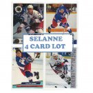 Teemu Selanne 4 Card lot RC's & Inserts Ducks