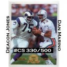 Dan Marino & Deacon Jones #/500 SP 1996 CE President's Reserve TimeWarp #12 Rams HOF