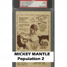 Mickey Mantle 1977 Bob Parker Hall of Fame #34 PSA 9 Yankees Population 2