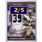 Steven Jackson #/5  Auto 2009 Autographed Game-worn Jersey #136 Rams, Falcons