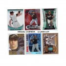 Miguel Cabrera 6 Card lot of Premium & Insert Cards Tigers Marlins
